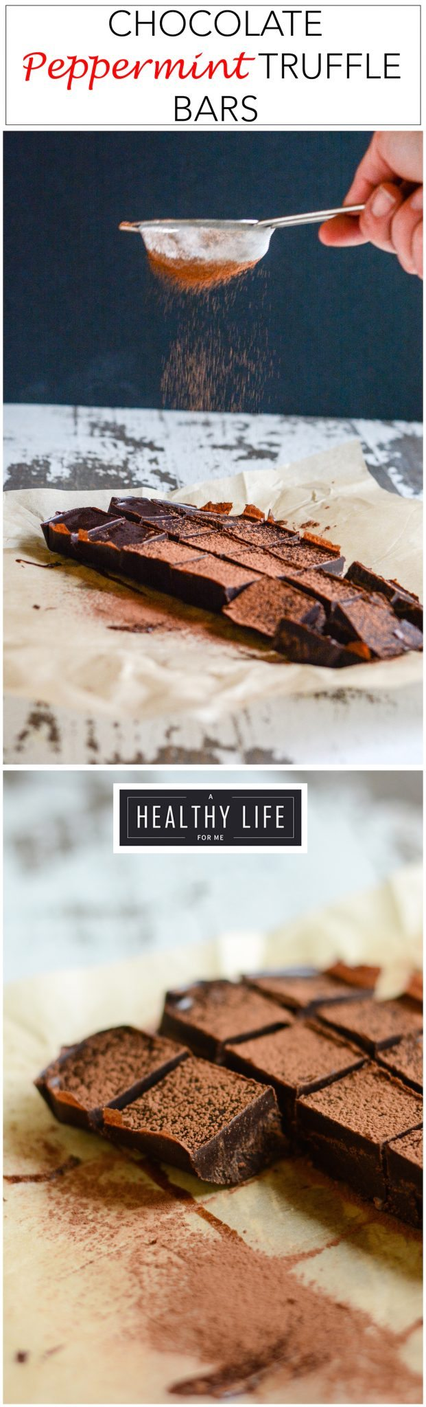 Chocolate Peppermint Truffle Bars are the perfect no bake gluten free easy to make holiday treat and a great way to celebrate the holidays | ahealthylifeforme.com