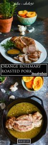 Orange Rosemary Roasted Pork Tenderloin is a delicious, simple, one-pan dinner that is made with limited ingredients and is paleo friendly and whole30| ahealthylifeforme.com