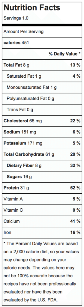 Nutritional Information for Blueberry Pie Overnight Oats Recipe   ahealthylifeforme.com