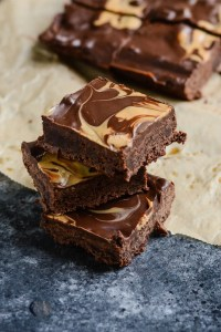 Gluten Free lower calorie and sugar protein chocolate peanut butter brownie recipe   ahealthylifeforme.com