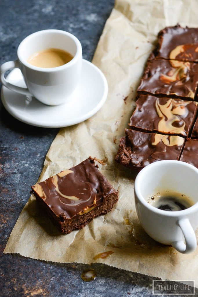 Gluten Free lower calorie and sugar protein chocolate peanut butter brownie recipe | ahealthylifeforme.com