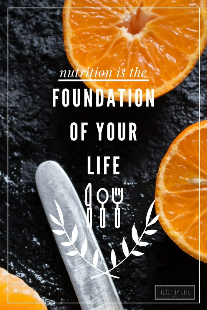 Nutrition is the Foundation of Your Life   ahealthylifeforme.com