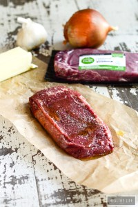 Grilled Bison Ribeye Steak with Avocado butter   ahealthylifeforme.com
