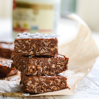No Bake Peanut Butter Chocolate Coconut Bars