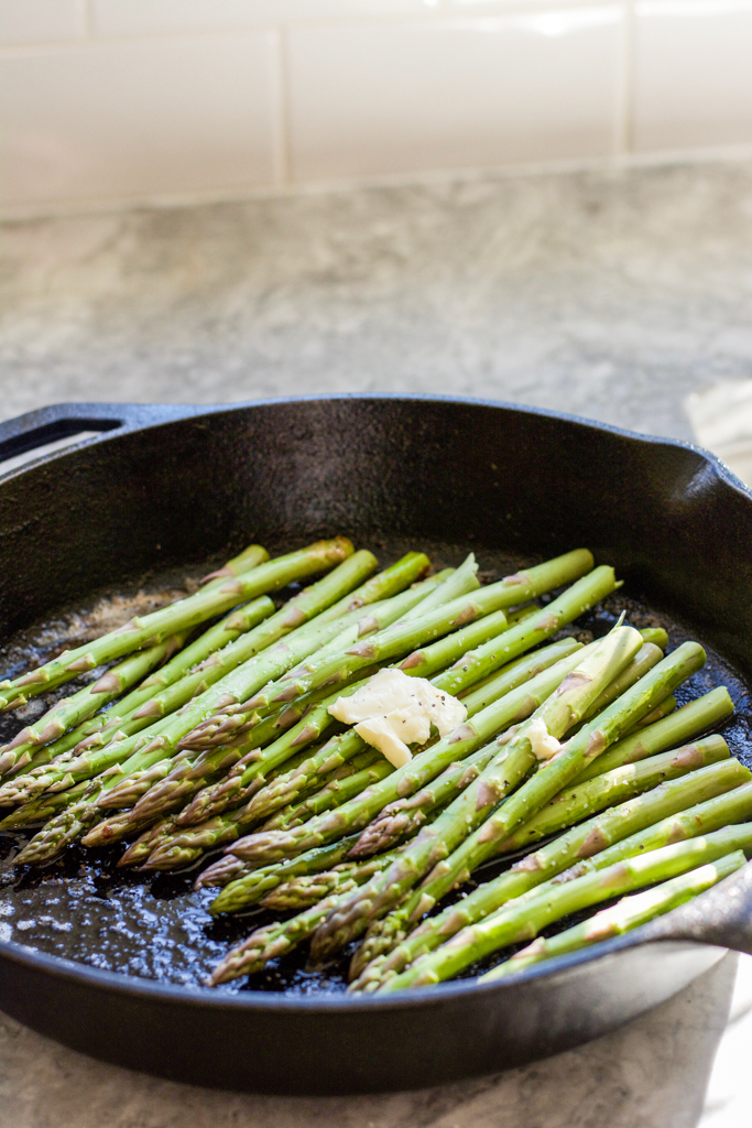 Roasted Asparagus with Butter Salt and Pepper