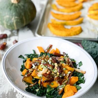 Squash Kale Date Salad