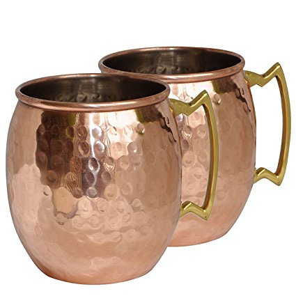 Our favorite copper Moscow Mule mugs. A Hedgehog in the Kitchen. www.ahedgehoginthekitchen.com.