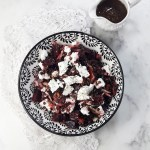 Healthy easy lentil salad with beets and goat cheese