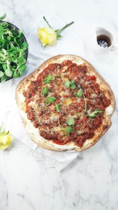 Wholewheat ratatouille pizza. A Hedgehog in the Kitchen. www.ahedgehoginthekitchen.com.