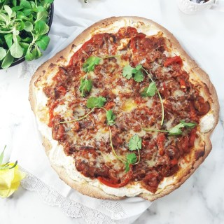 Wholewheat ratatouille pizza – healthy comfort food