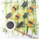 Vegan sushi + cucumber weaving tutorial