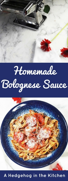 Perfect homemade bolognese sauce will up your pasta game! Creamy, meaty, full of flavor and everything a delicious pasta sauce should be. | ahegehoginthekitchen.com