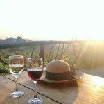 Drinking wine in Myanmar at Red Mountain Estate