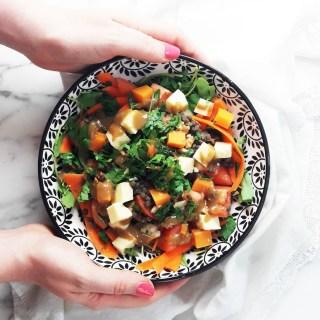 Mimolette & cheddar Summer salad
