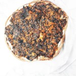 Indian wholewheat palak paneer pizza