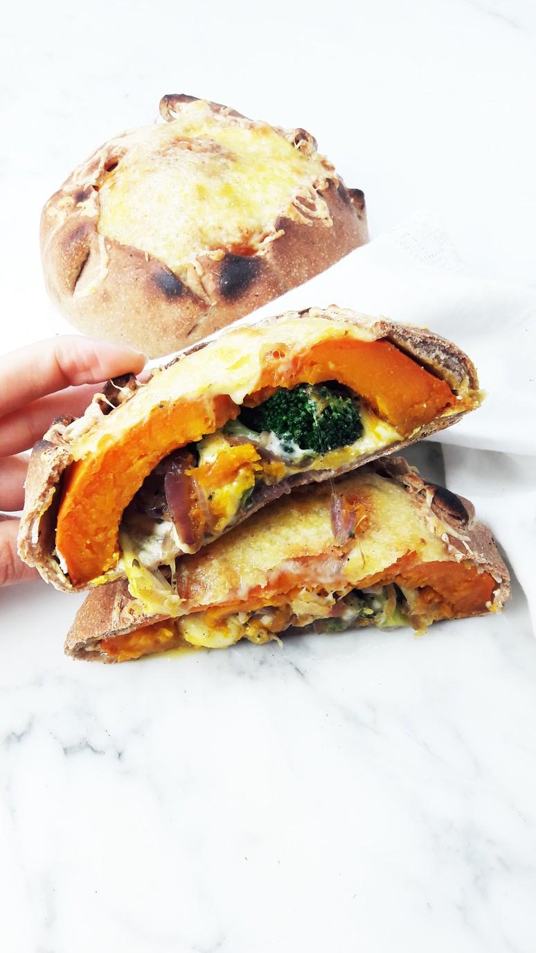 7 Pumpkin Recipes for Fall. Pumpkin Calzone.   ahedgehoginthekitchen.com