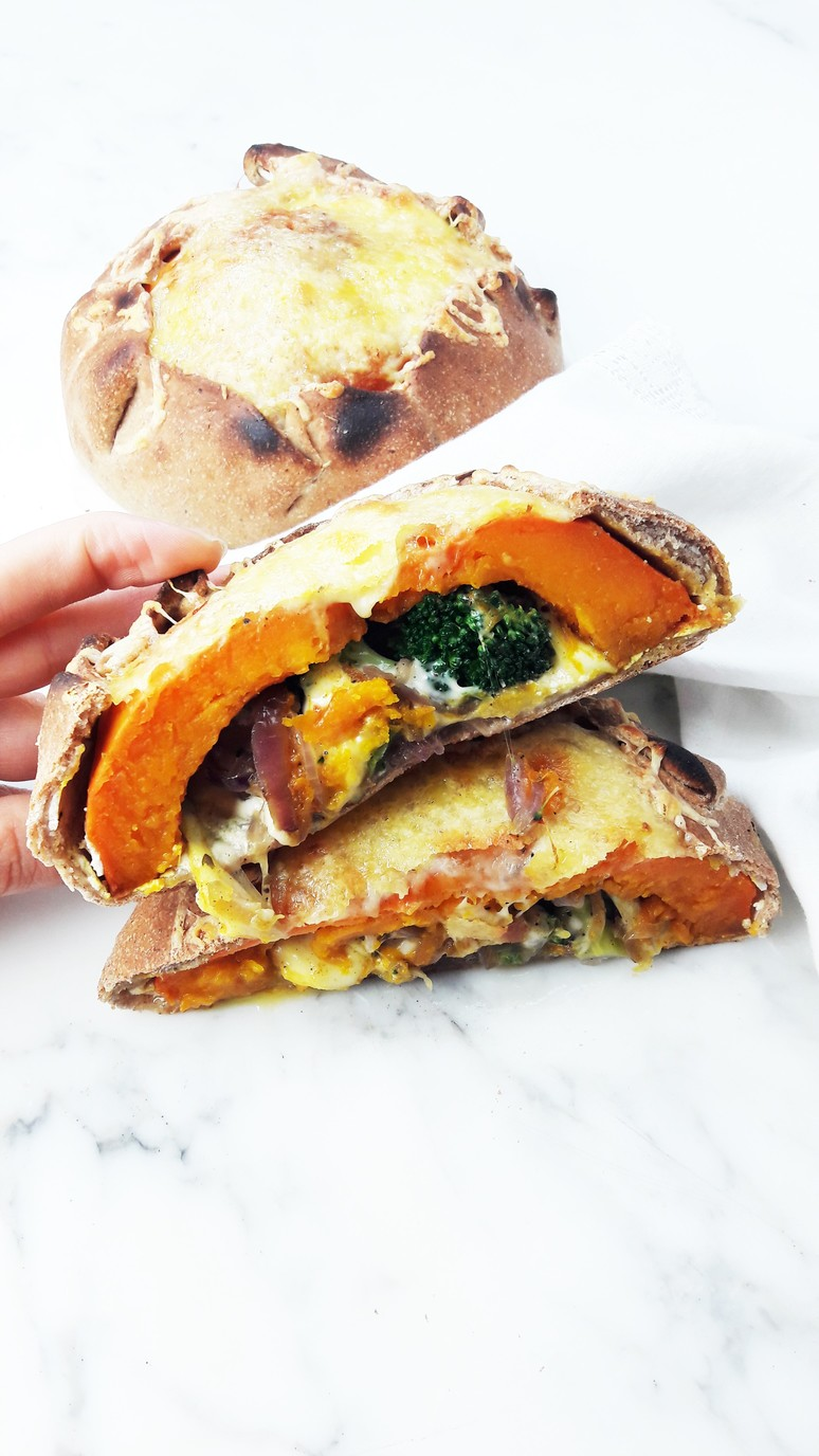 7 Pumpkin Recipes for Fall. Pumpkin Calzone. | ahedgehoginthekitchen.com
