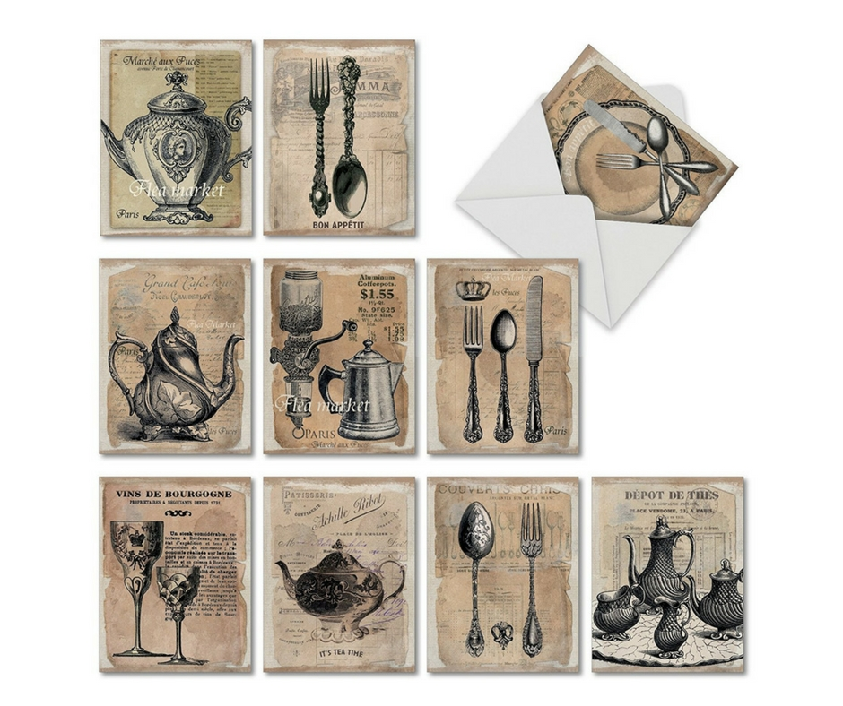 Gift Guide from Our Parisian Home. Vintage French Note Cards. | ahedgehoginthekitchen.com