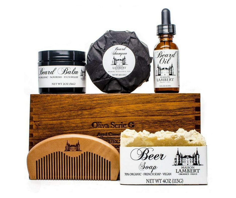 Gift Guide from Our Parisian Home. Organic Beard Kit. | ahedgehoginthekitchen.com