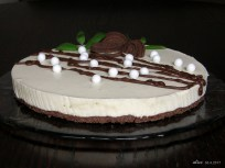 Mint chocolate cheese cake