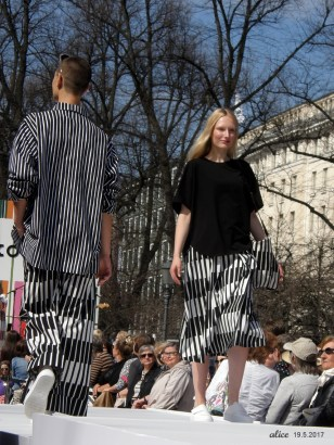 Marimekko 2017 Fashion Show in Helsinki the Esplanadi Park