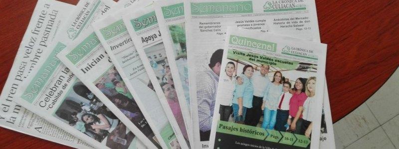 Dona La Crónica de Culiacán Colección de Revistas a Nuestra Hemeroteca