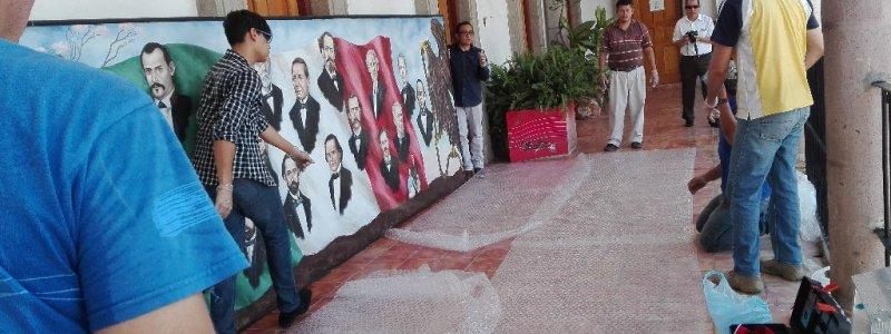 """Traslado del Mural """"Sinaloa y las Leyes de Reforma"""""""