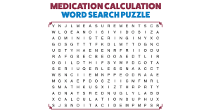 MEDICATION CALCULATION - Word Search Puzzle
