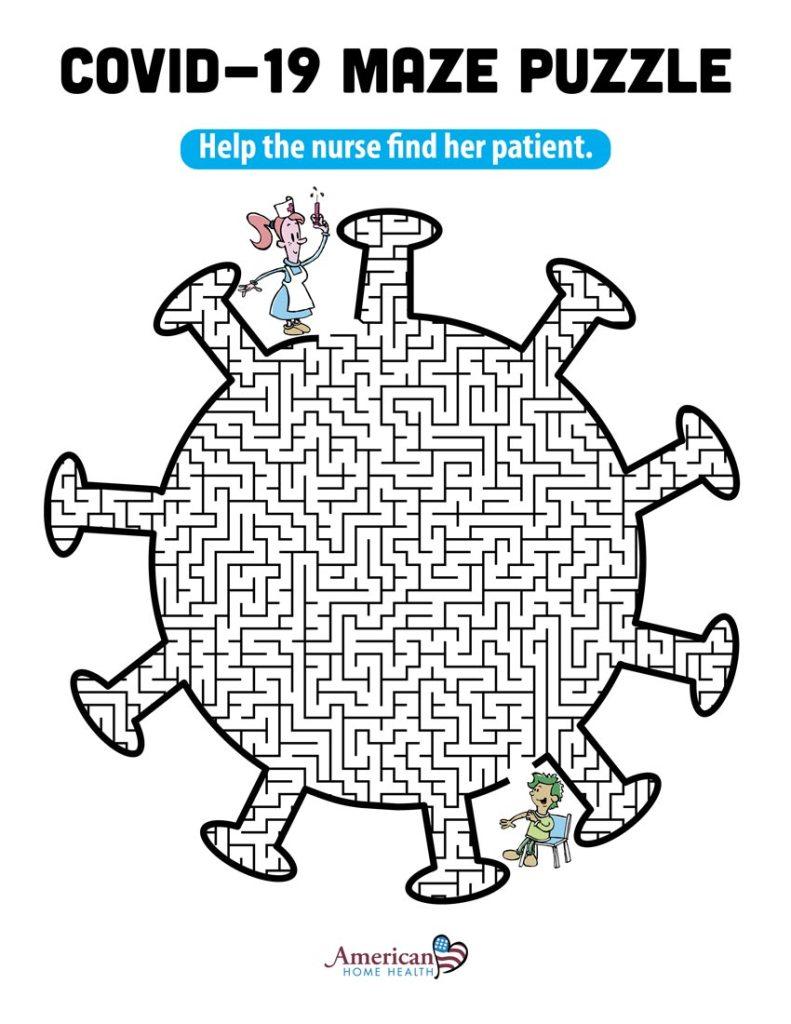 COVID-19 Maze puzzle