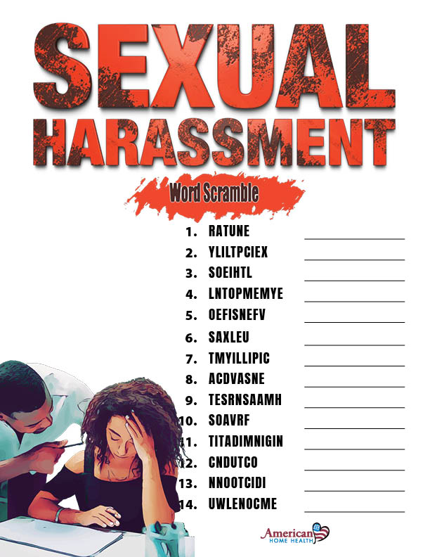 Sexual Harassment - Word Scramble Puzzle