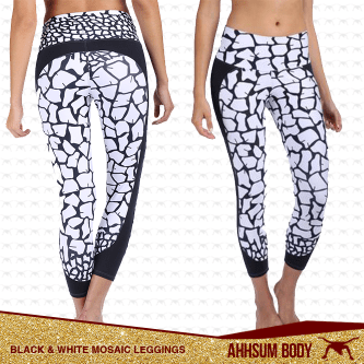 B&W Mosaic Leggings #ABABWMOS-LEG