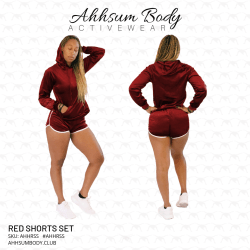 Red Shorts Set - AHHRSS
