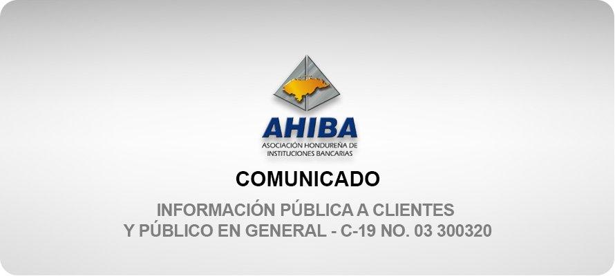 Información Pública A Clientes Y Público En General - C-19 No. 03 300320