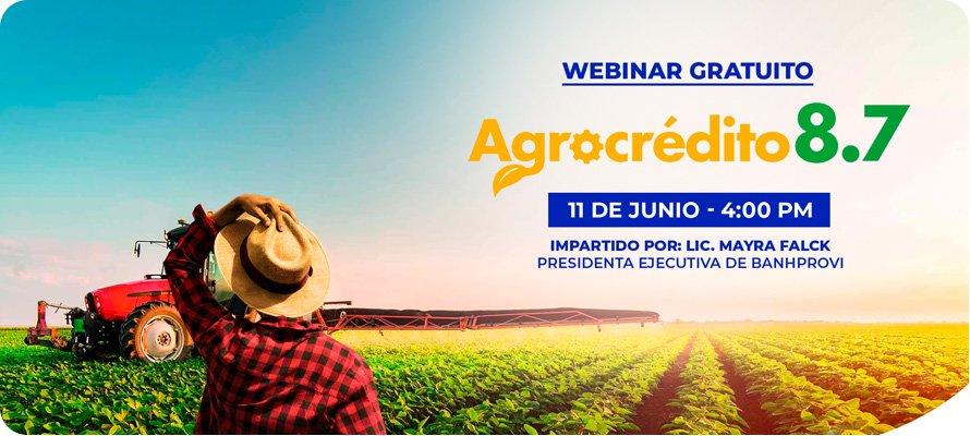 Webinar Agrocrédito 8.7