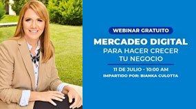 Webinar Mercadeo Digital para hacer crecer tu negocio
