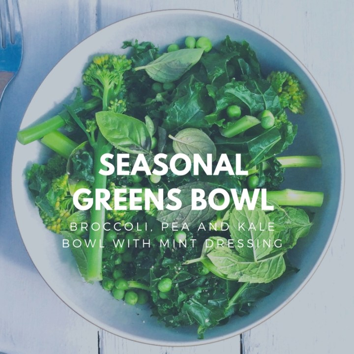 Bowl of seasonal greens