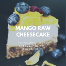 Mango Raw Cheesecake