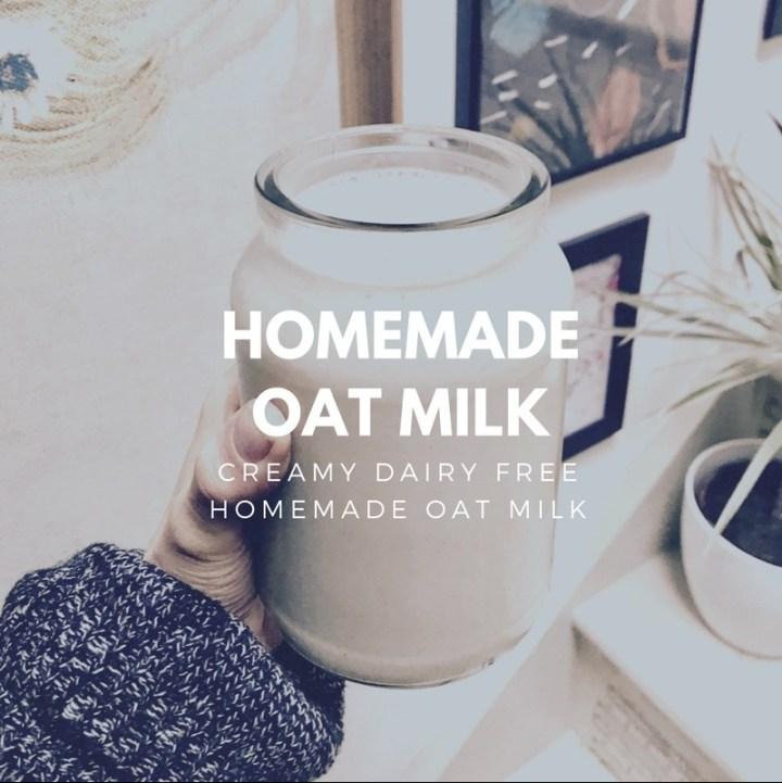 Creamy homemade zero waste oat milk