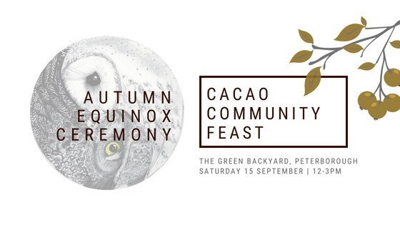 Deepening our connection to the Earth: Cacao Alchemy & Plantbased Feast for the Autumn Equinox
