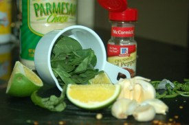 Basil and Spinach Pesto Ingredients 2