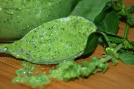 Basil and Spinach Pesto On the Spoon