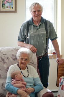 Grandpapa, Great-Grandma and Willa