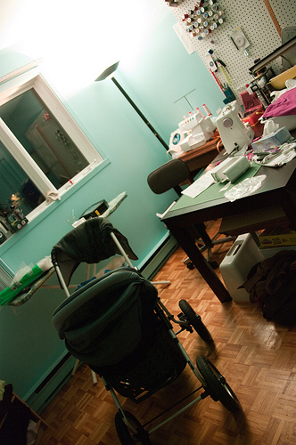 night in my sewing room
