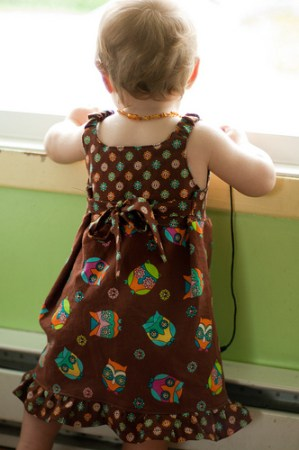 Back of the Retro Owl dress