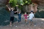 Fun in the mud near the flowerpot rocks