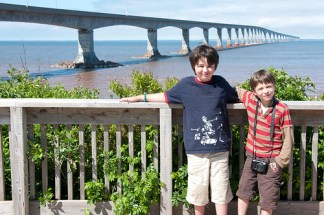 Xavier and Colin in front of the Confederation Bridge