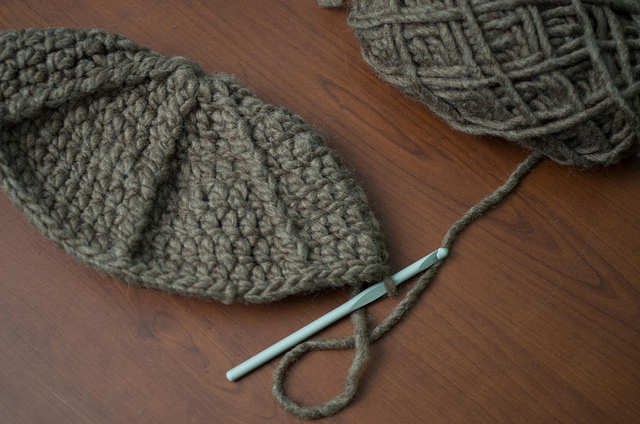 beginnings of a hat