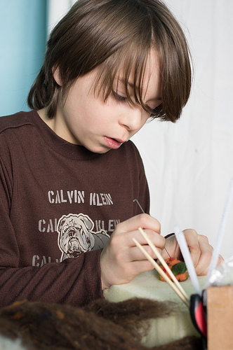 Colin needle felting