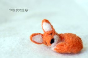 Sleeping Fox Brooch or magnet