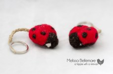 Lady bug keychains